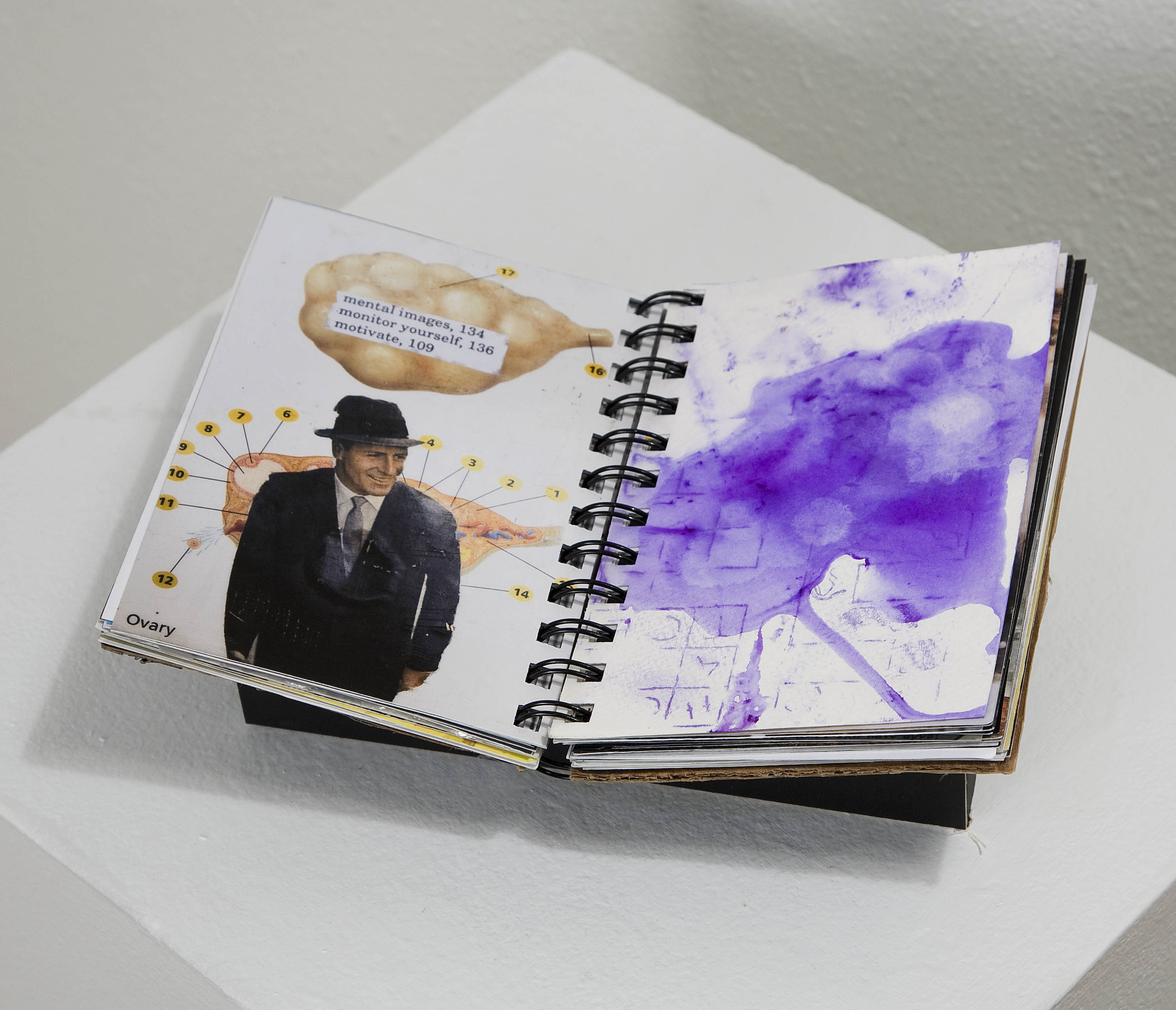 Water Color in notebook
