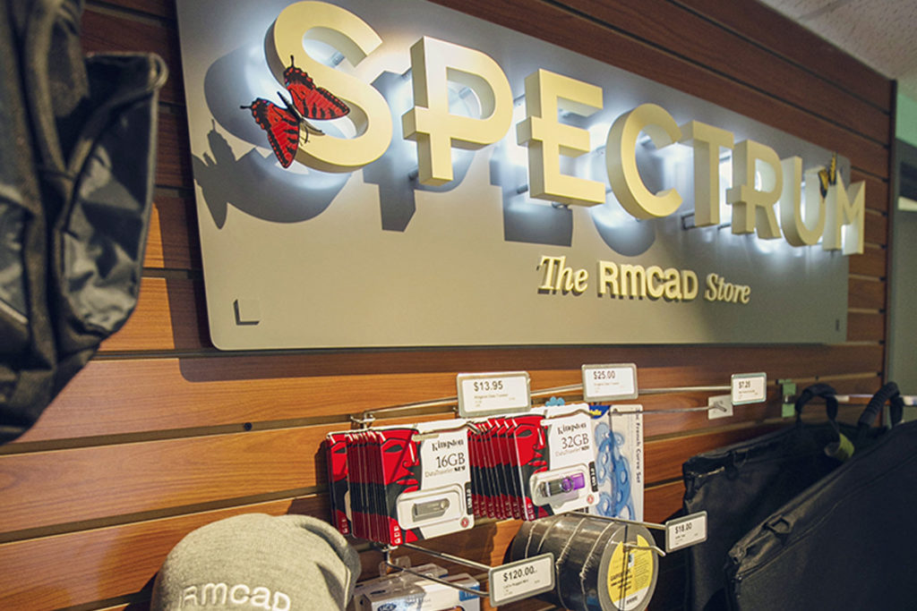 spectrum the RMCAD store sign