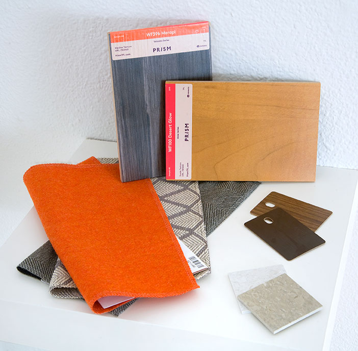fabric and veneer samples