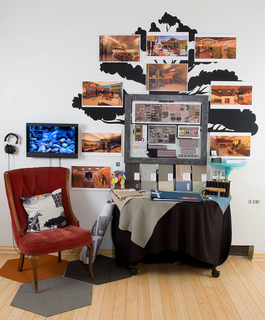 a multimedia photo exhibit