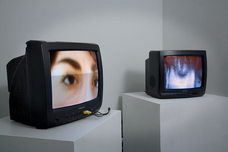 CRT TV art installation
