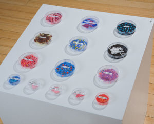 Art installation of communicable diseases