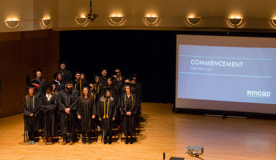Commencement ceremony photo