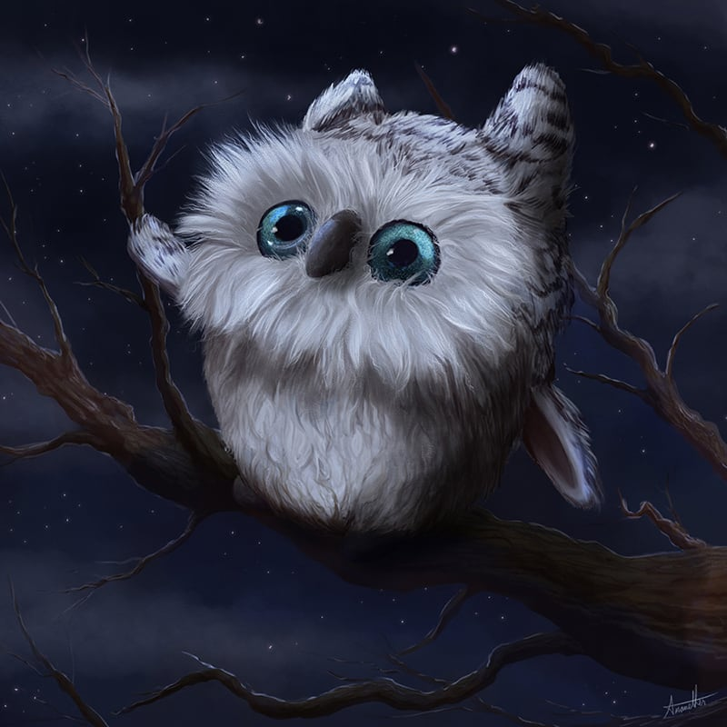 Digital illustration of an owl