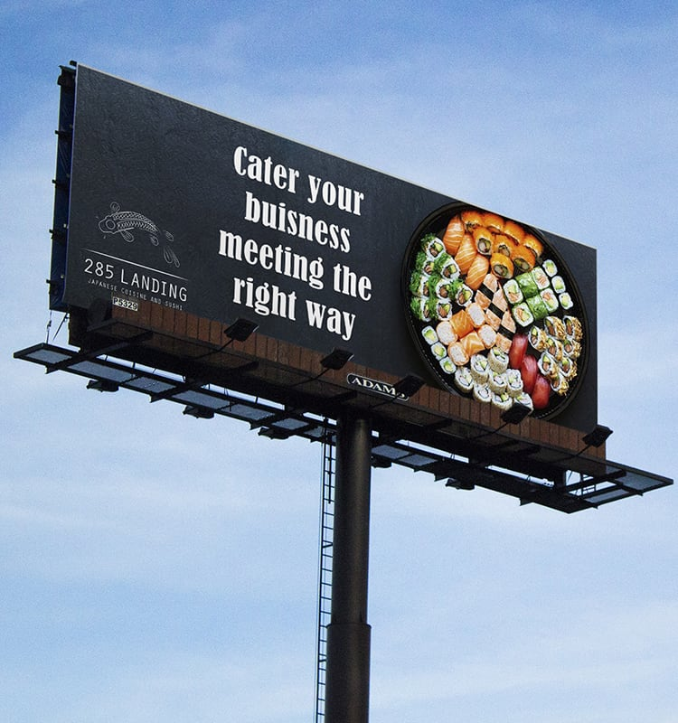 Billboard advertisement design