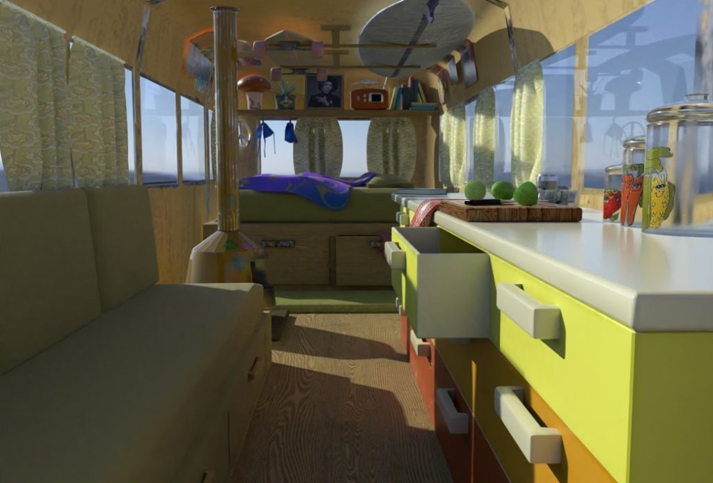 The interior of an RV home